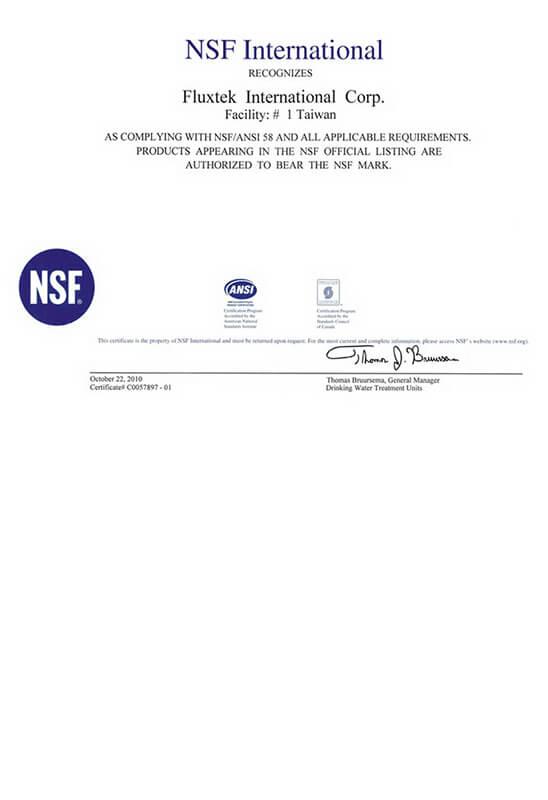 Post Carbon Sök / Tak Filtre NSF Sertifikası